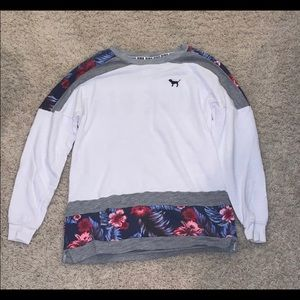 PINK Victoria Secret Floral Sweatshirt